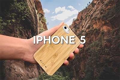 Coques de protection iPhone 5 bois