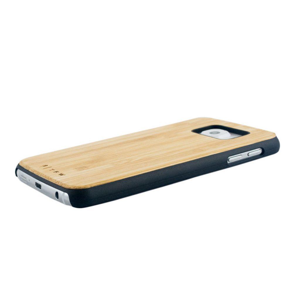 Coque galaxy S6 en bois de bambou
