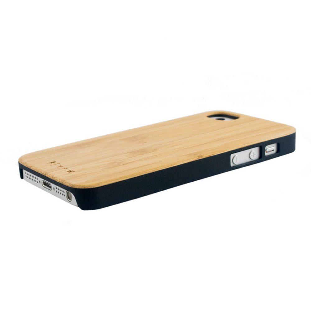 Coque iPhone 5/5S/SE en bois de bambou - Oriano