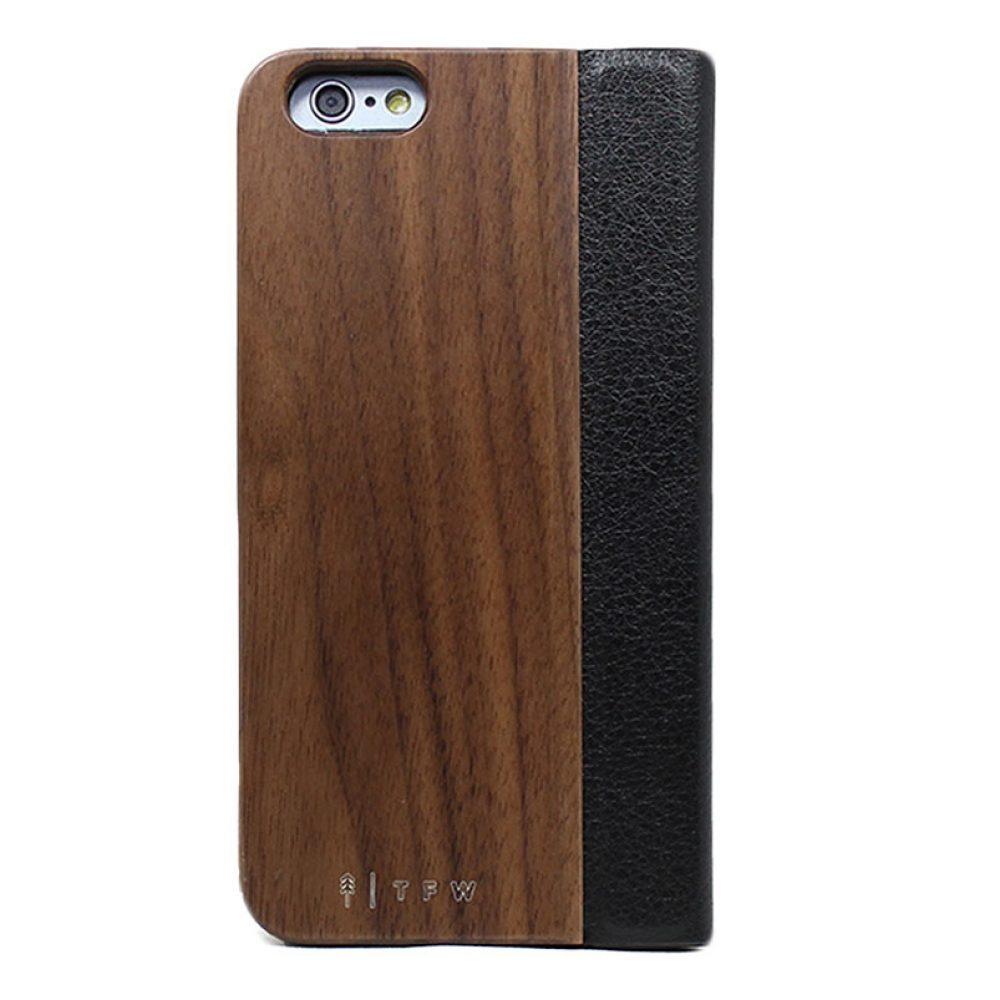 Coque en bois iPhone 6 à clapet