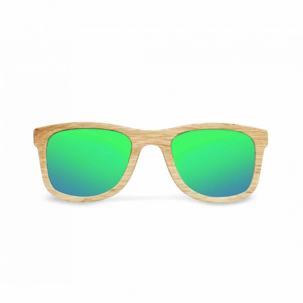 Lunettes de soleil bois - Caviuno green mirror