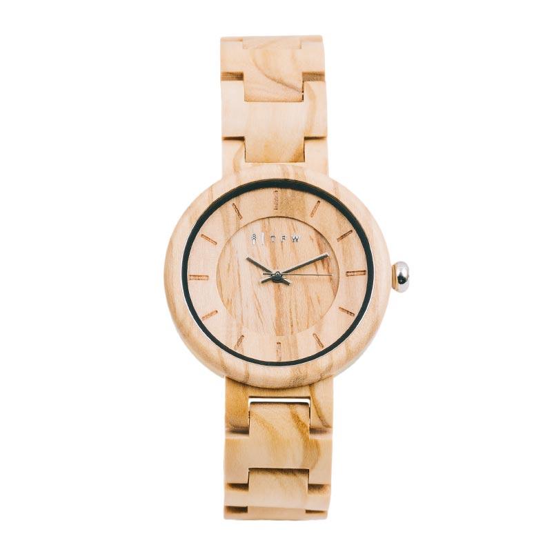 Montre bracelet en bois femme