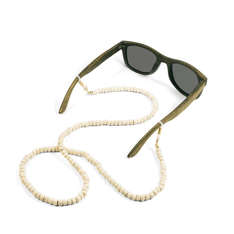cordon à lunettes branchés en bois
