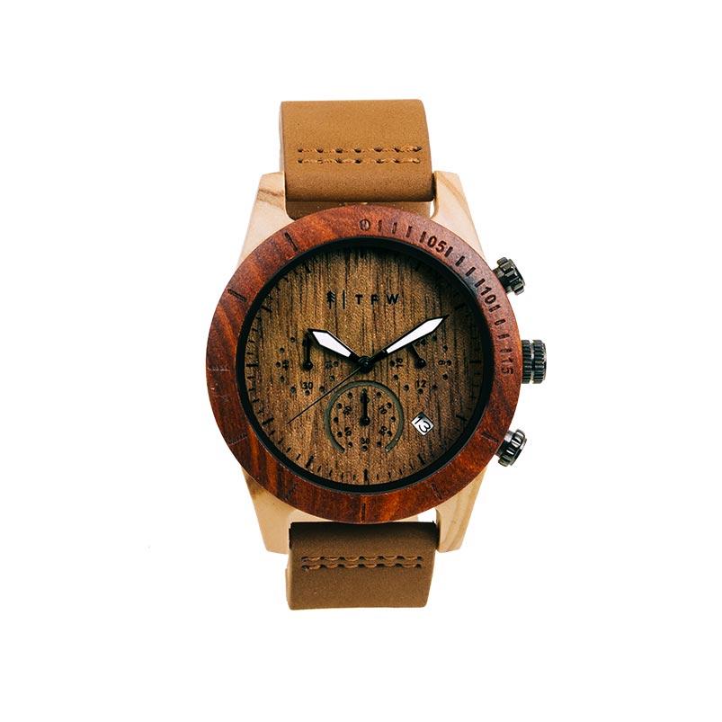 montre chronographe en bois