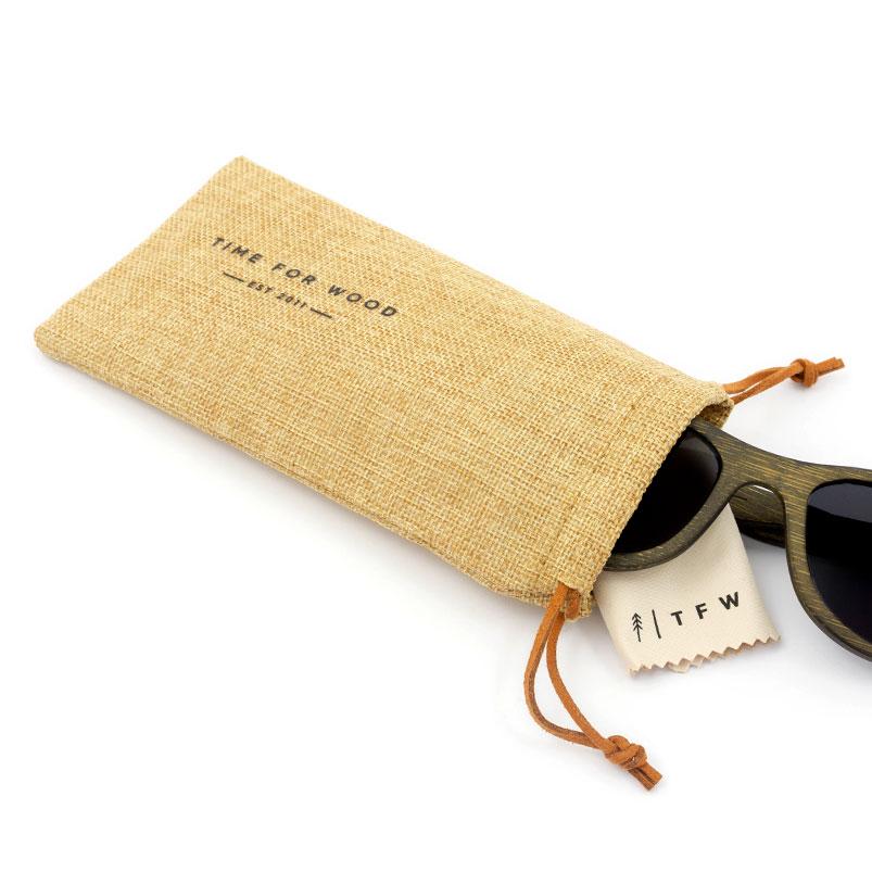 Pochette lunettes en lin
